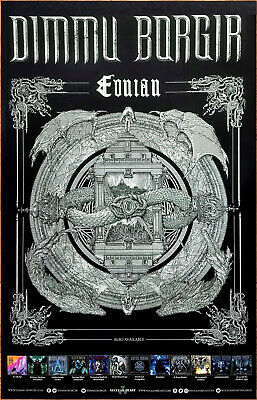 DIMMU BORGIR Eonian 2018 Ltd Ed New RARE Tour Poster Display +FREE Metal Poster!
