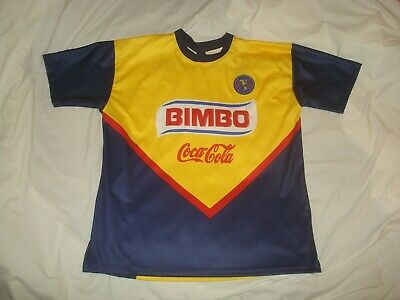 a6ab3d8e0 Club America Soccer Jersey Bimbo Coca-Cola Corona Navy and Yellow Large