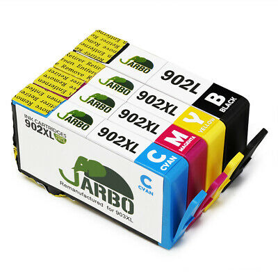 JARBO Compatible HP902XL Ink Cartridge BCMY for HP Officejet 6968 6978 6950 6954