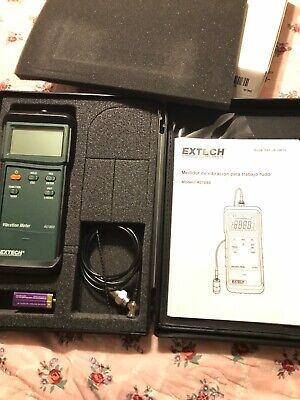 Extech 407860 Heavy Duty Vibration Meter. Free Shipping. BRAND NEW SEE DETAILS