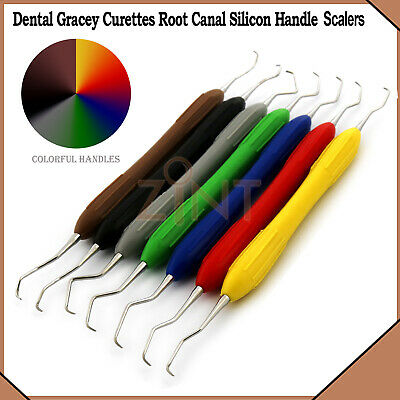 Gracey Curettes Silicone Handles Dental Periodontal Hand Instruments New 7Pcs