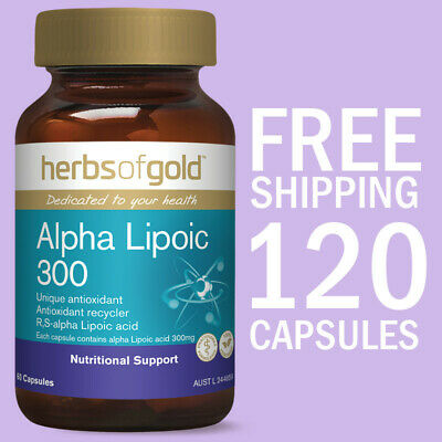 Herbs of Gold Alpha Lipoic 300 | 120 Capsules