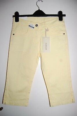 Tom Tailor Hanna Low Capri Pants L Girl Height 164 cm Yellow BNWT