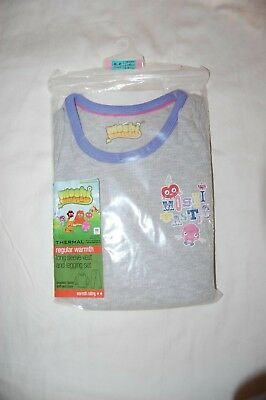 M&S Moshi Monsters Thermal Pyjamas Grey Age 5-6 Years BNIP