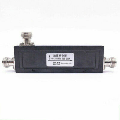 N Type Female RF Coaxial Directional Coupler 800-2500MHz 200 W 10/20/30/40dB