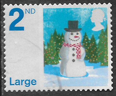 GB Christmas Stamp 2nd class shows snowman - see scan