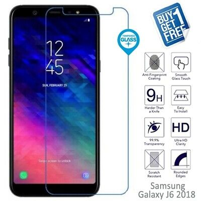 2x For Samsung Galaxy J6 2018 Genuine Tempered Glass Screen Film Protector Clear