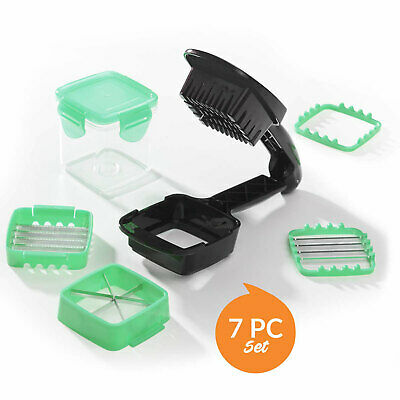 JML Nicer Dicer Quick 5 In 1 Green Handheld Chopping Slicing Dicing Machine