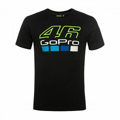 Valentino Rossi VR46 Moto GP GoPro Black T-shirt Official 2019