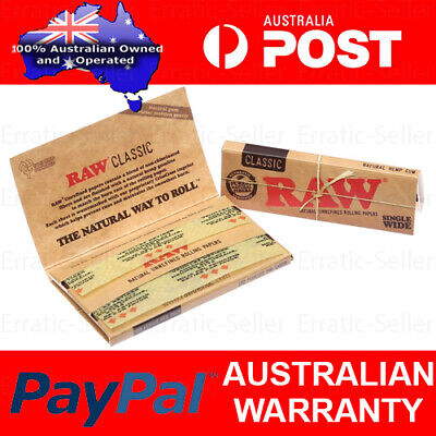 Raw Classic Double Single Wide 50 Papers Tobacco Cigarette Rolling Smoking Smoke