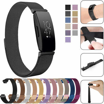 For Fitbit Inspire / HR Stainless Steel Metal Loop Watch Band Magnetic Strap