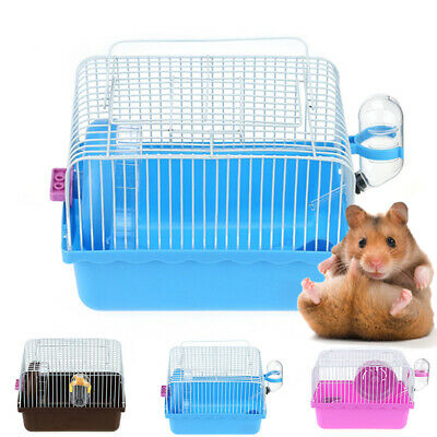 Useful Pet Hamster Mouse Cage W/Water Bottle Bowl Small Animal Rat Mice Nest Toy