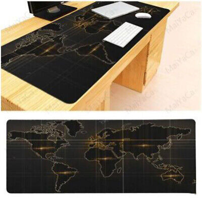 Office World Map Large Cloth Extended Rubber Gaming Mouse Desk Pad Mat New OS