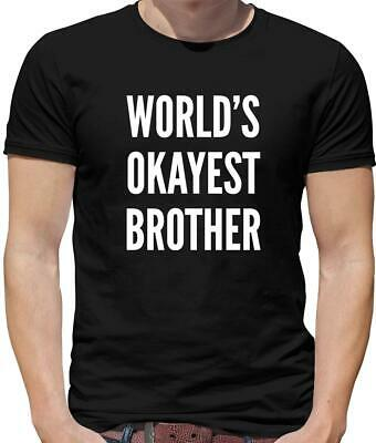 World's Okayest Brother Mens T-Shirt - Sibling - Funny - Step - Family - Gift