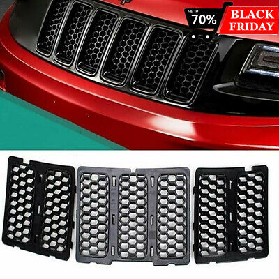 7PCS Front Grille Grill Inserts Mesh Honeycomb for 2014-2016 Jeep Grand Cherokee