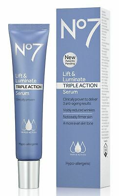 No7 Lift & Luminate TRIPLE ACTION Serum Large 50ml New & Boxed