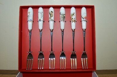 Royal Worcester Wrendale by Hannah Dale - Set of 6 Pastry Forks BNIB