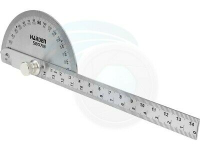 Stainless Steel Bevel Protraction 180 Degree Angle Protractor Ruler