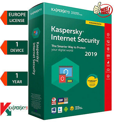 KASPERSKY INTERNET Security 2019 / 1 Device / 1 Year / Region - EUROPE  6.25$