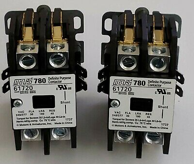 ( 2 TOTAL) NEW Furnas 45EG10AJAL Mars 780 Definite Purpose Contactor 61720