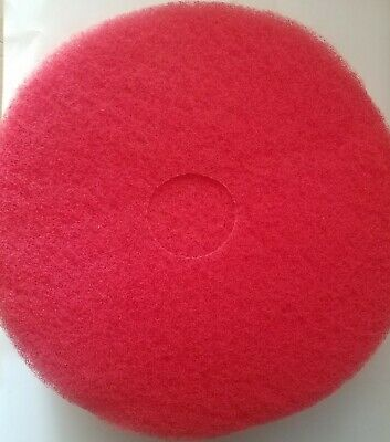 """Brady DC4416 Buffing/Cleaning Pad 16"""" Red Qty 5"""