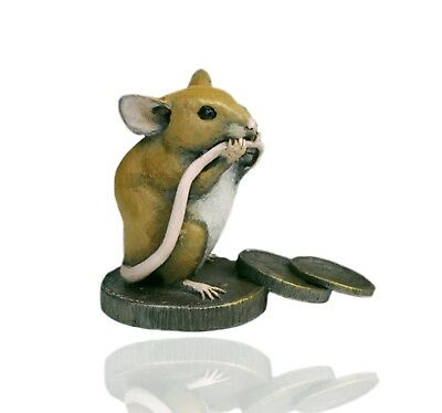 Mice Cold Cast Bronze Mouse on Old Pennies - Hand Painted - Michael Simpson.