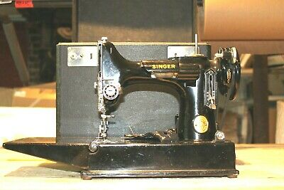 Vintage 1946 Singer Portable Electric Sewing Machine 221-1