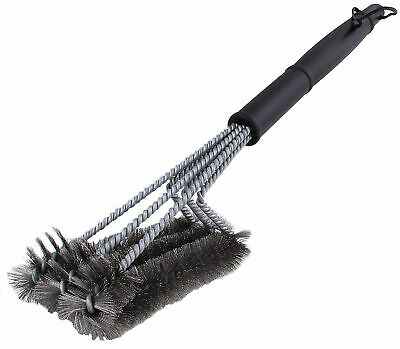 """BBQ Grill Brush Cleaner 18"""" Grilling Tool Cleaning Stainless Steel Woven Wire"""