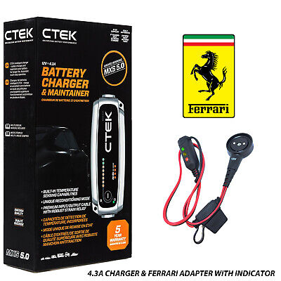 Ferrari California T Battery Charger Tender Conditioner Trickle Charger