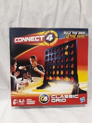 Hasbro Connect 4 (Four In A Row) Classic Grid Game 98779 6+ Years