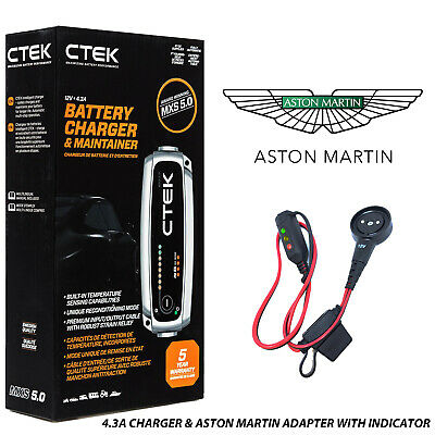 Aston Martin DB11 Battery Charger 4.3A - 7A & Custom Adapter
