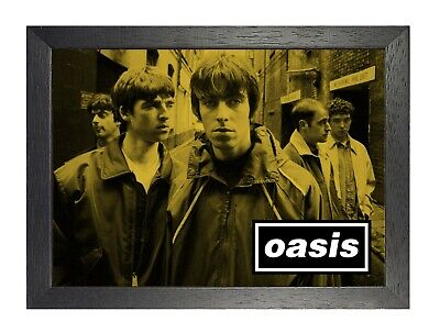 Oasis 15d English Rock Band Poster Gallagher Music Star Photo Sepia Picture