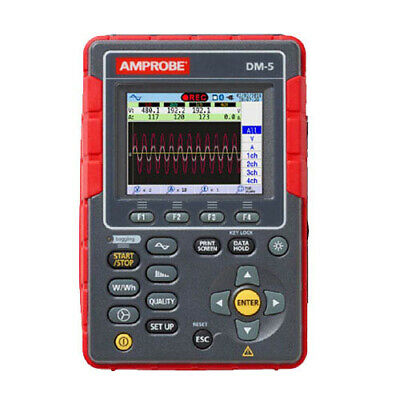 Amprobe DM-5 High Performance Power Quality Tester, 3000 A