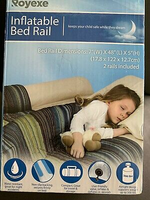❤ Kids Royexe The Original Bed Rails For Toddlers Portable & Inflatable 2 Rails