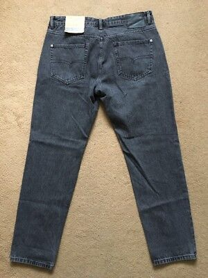 """NEXT Men's Slim Tapered Fit Grey Jeans, Size 36R, W36"""", L31"""", £32"""