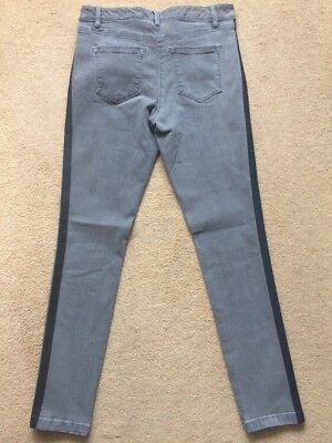 NEXT Women's Grey Mid Rise Highwaisted Superstretch Skinny Fit Jeans, UK16, £35