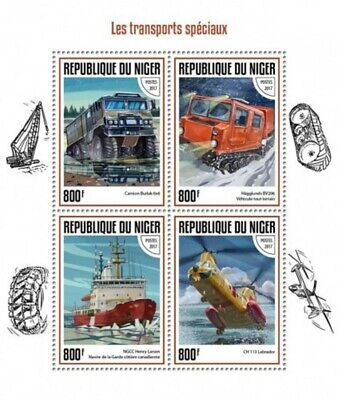 Niger - 2017 Special Transport - 4 Stamp Sheet - NIG17413a