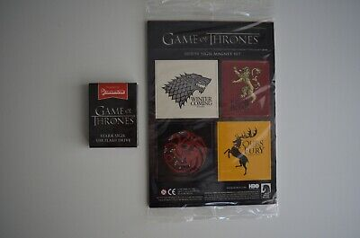 Game of Thrones * House Magnet Set * Stark Lannister Targaryen Baratheon & USB