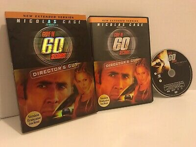Gone in 60 Seconds (DVD, 2008, Canadian French, With Sleeve)