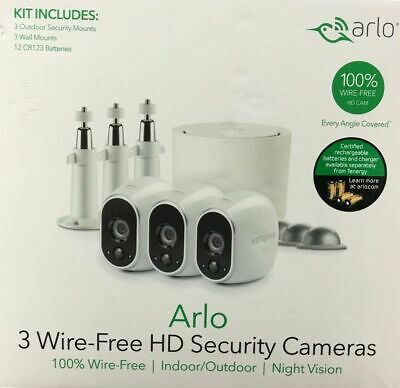 Arlo Wireless Hd Security Cameras System by Netgear, Indoor/Outdoor/Night Vision