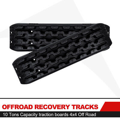 FieryRed Recovery Traction Tracks Black Off Road Sand Snow MUD Track Tire Ladder