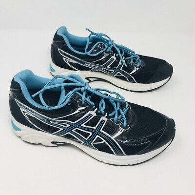 81099eafa0c Asics Gel Kanbarra 6 Women's Athletic Running Shoes Blue Black Size 11  Sneakers