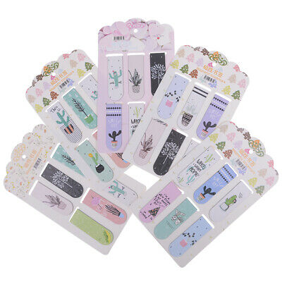6pcs/Set KawaiI cactus magnetic bookmarks page clip school office  stationery