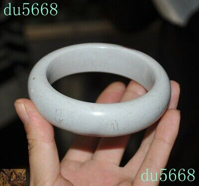Chinese Liangzhu Culture Old jade carved ancient Text pattern Bracelet hand ring
