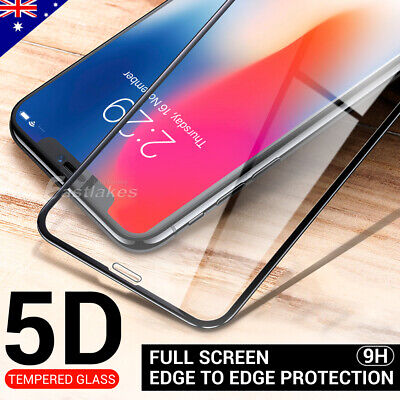 5D Apple iPhone XS Max XR X Plus Full Coverage Tempered Glass Screen Protector