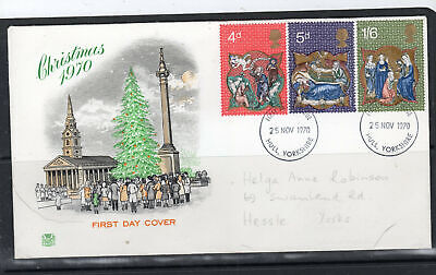 1970 Great Britain Stamps Fdc Cover First Day Issue Used  Lot  5636