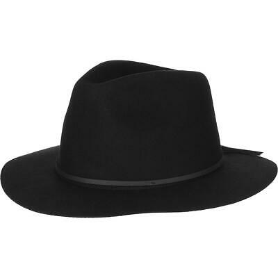 281bc201248 NEW Small Brixton Wesley Black Felt Fedora Hat Free People Urban Outfitters  $52