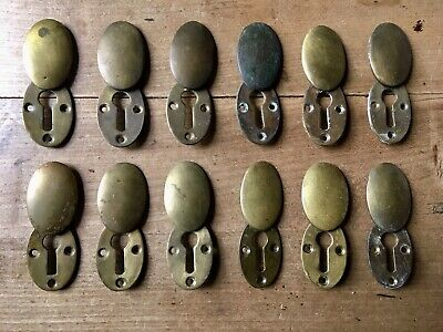 Antique Escutcheon Keyhole Brass Vintage Door Hardware Victorian £10 Each