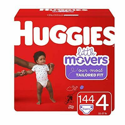 HUGGIES Little Movers Diapers, Size 4, 144 Count (Packaging May Vary)