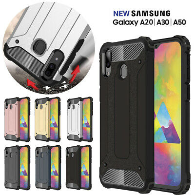 Samsung Galaxy A20 A30 A50 SHOCK-ABSORBERS Dual layer Case TPU Shock Proof Cover